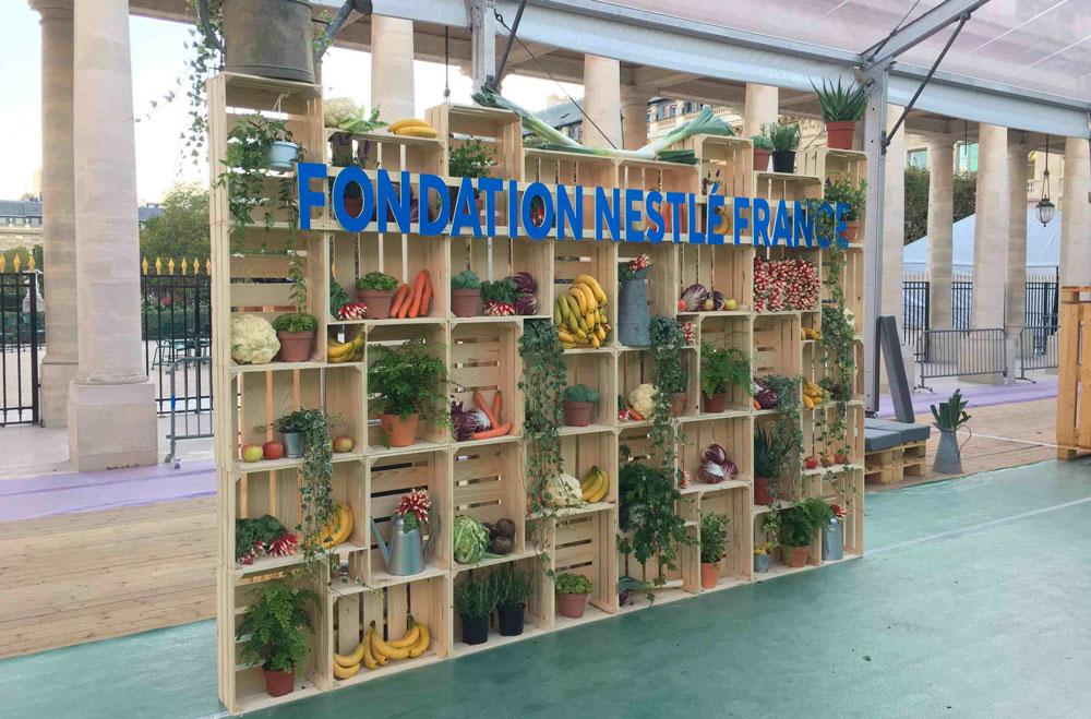 Fond de stand Triple D Gamme caisse de bois